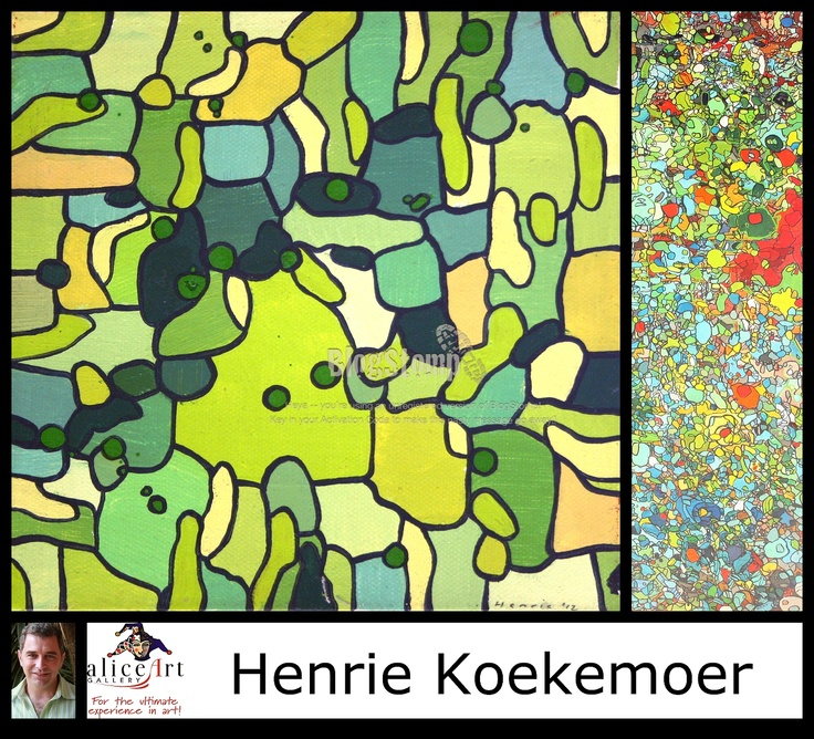 Henrie Koekemoer: Interesting pastel acrylics with a twist!