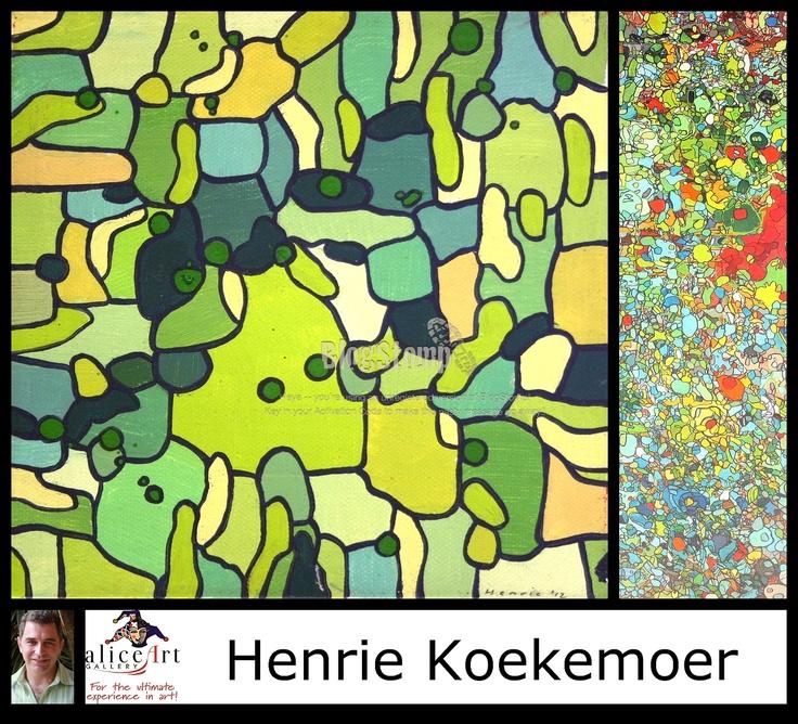 Henrie Koekemoer: Interesting pastel acrylics with a twist!