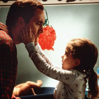 """The Family Man - Nicolas Cage   """"Annie: They did a pretty good job.  Jack: Who did?  Annie: The aliens, in the mothership. You look just like him.""""       Love this movie"""