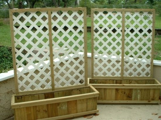 Creating Privacy On a Deck | Instant privacy and somewhere to plant. Want to do this for the deck