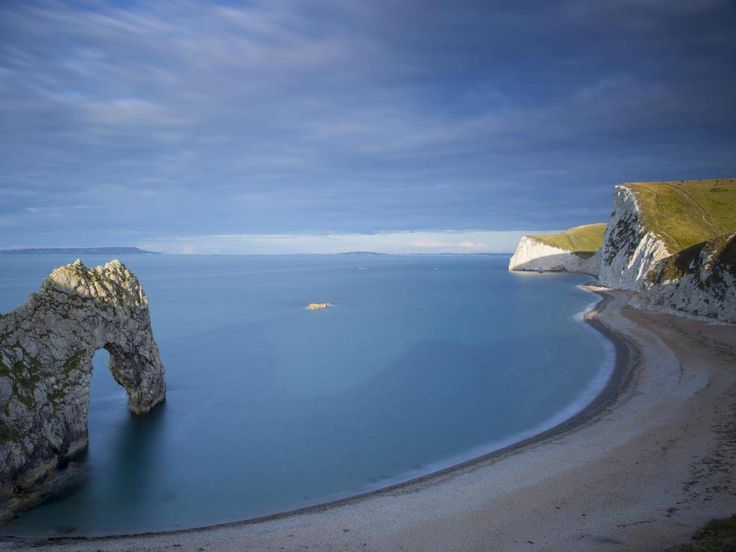 The Jurassic Coast is a World Heritage Site on the English Channel coast of southern England. It stretches from Exmouth in East Devon to Studland Bay in Dorset, a distance of about 96 miles.