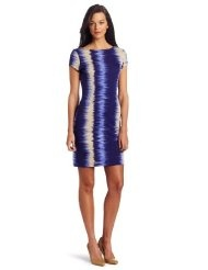 Kenneth Cole Womens Jagged Stripe Print Dress
