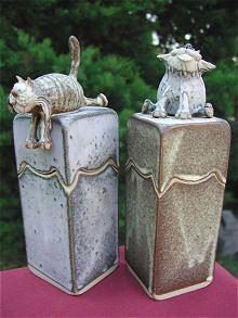 Pottery Animal Jar