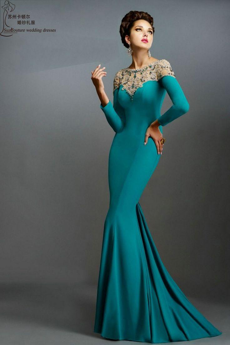 21 best Amazing Long Sleeve Evening Dresses images on Pinterest ...