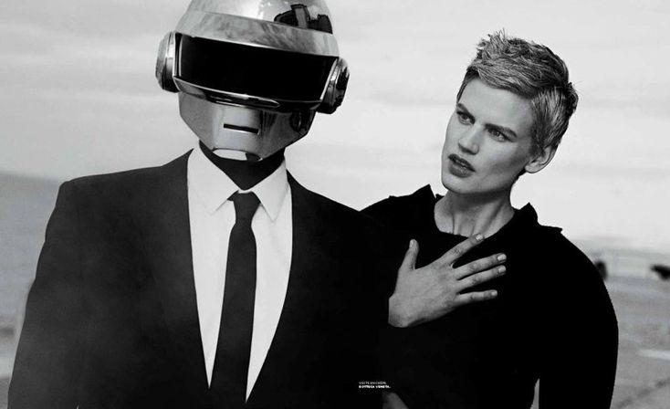 ☆ Daft Punk & Saskia de Brauw | Photography by Peter Lindbergh | For M Magazine France | December 2013 ☆ #daftpunk #saskiadebrauw #peterlindbergh #mmagazine #2013