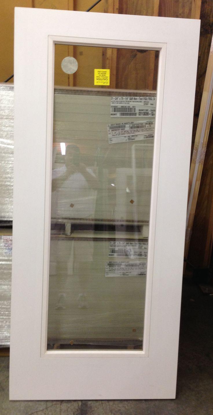 Fiberglass 1 Lite Flush Glaze Exterior Back Door Www