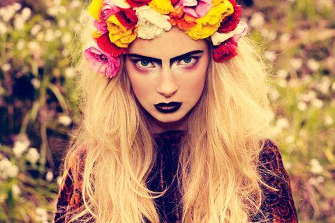 woah!Fashion, Hair Diy, Dolls Makeup, Brows, Beautiful, Festivals Hair, Flower Power, Fresh Flower, Floral Crowns