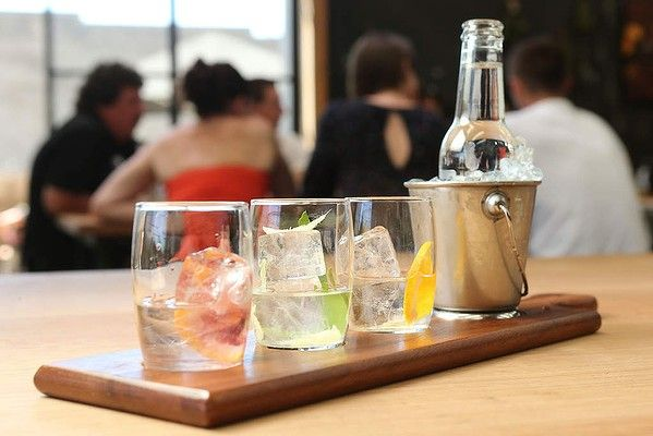 Gin and tonic paddle at Four Pillars Distillery at Healesville, Victoria. From Good Food's Summer Bucket List.