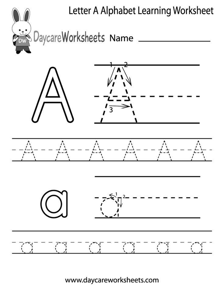 26 best Preschool Alphabet Worksheets images on Pinterest ...