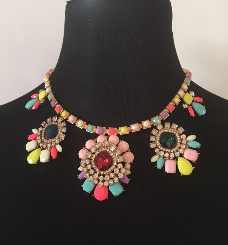 My Statement Necklace Multi coloured BNWT by ! Size  for £3.00. Check it out: http://www.vinted.co.uk/womens-accessories/necklaces/6563413-statement-necklace-multi-coloured-bnwt.