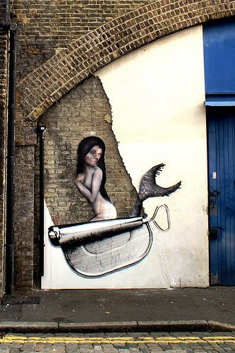 mermaid Out of the Blue, Hackney, UK, with Daniel Lumbini