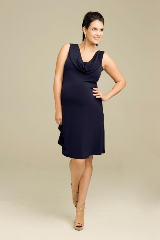 Perfect for Date Night! Ripe Maternity Donna Dress in Blackberry - a nice alternative to Black!