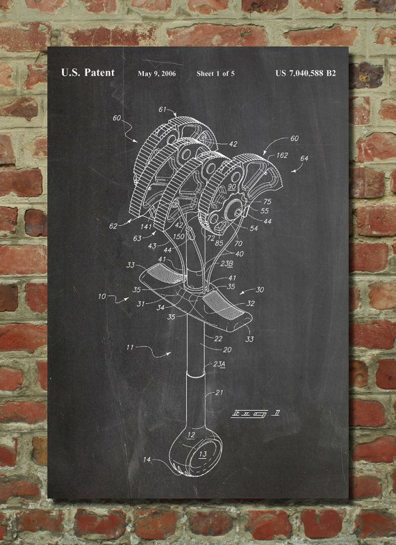 Omega Pacific Link Climbing Cam Poster, Climbing Cam Patent, Rock Climbing, Rock Climbing Art, PP61