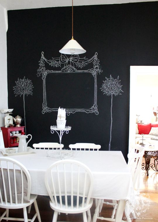 Chalkboard, blackboard wall art for the kitchen