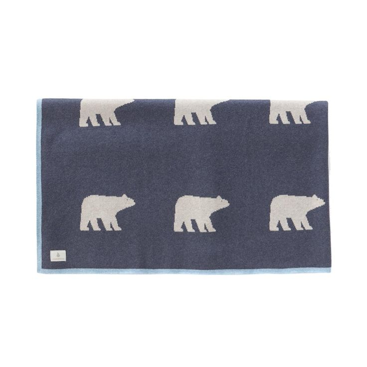 Bear Knit Blanket