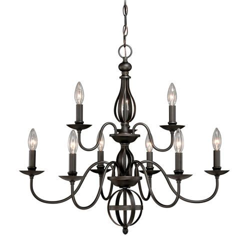 Patriot Lighting Megan 9 Light 27 Artisan Bronze Chandelier For Over The Dining Table
