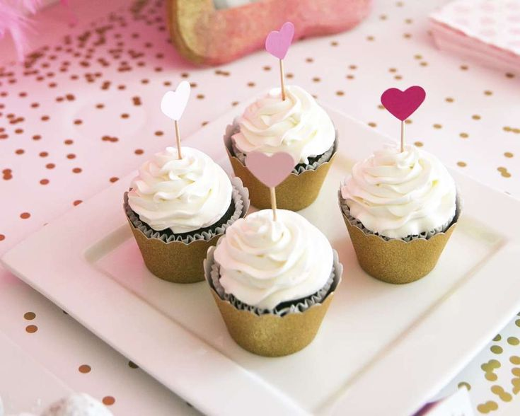 Ombre bachelorette party cupcakes! See more party ideas at CatchMyParty.com!