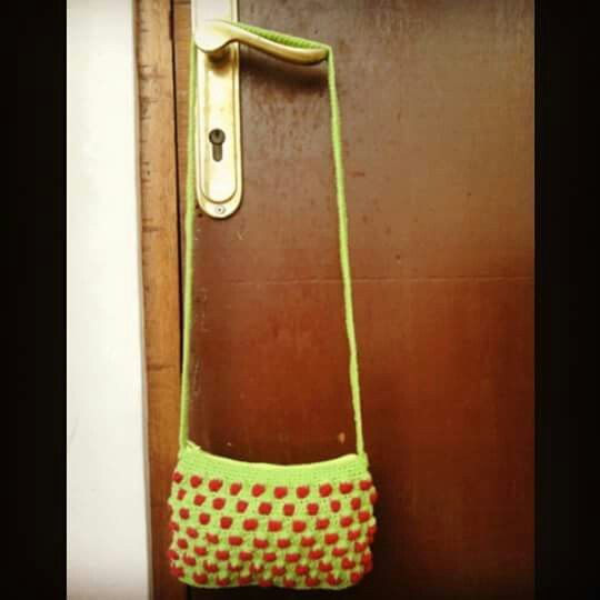 First and last bag crochet LOL #special for my neighbour's birthday present