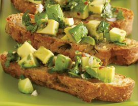 Weight Loss Appetizer Recipe: Avocado Chimichurri Bruschetta - BeLiteWeight | Weight Loss Services