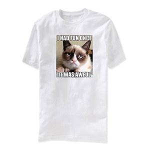 Herren-T-Shirt Grumpy Cat Weiu00df