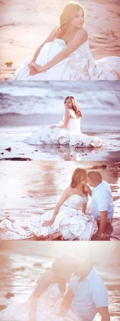 Votre séance photo post-mariage : le trash the dress ! Idées pour un trash the dress à la plage !