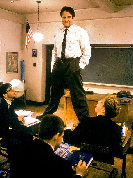 Dead Poets Society (1989) O captain! My captain! Our hearts are heavy as we say goodbye to such phenomenal man. You will be greatly missed. RIP