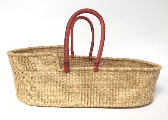 Moses Basket  Natural Straw  All Natural by babymosesbasket