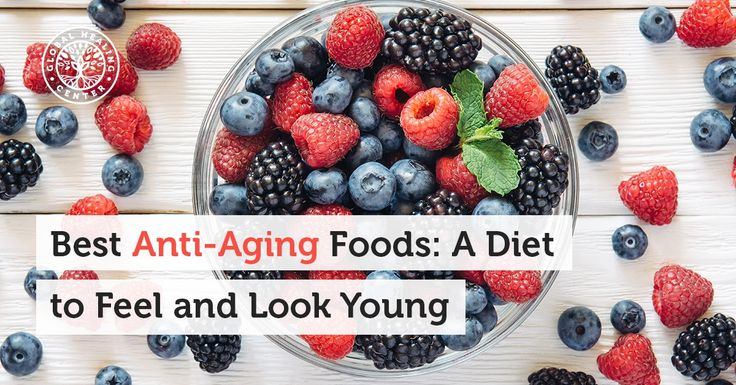 Here are Top 9 Anti-Aging Foods. Slow down skin aging naturally and fade wrinkles by making smarter food choices! Avocado* blueberries* green tea* kale* watermelon* olive oil* nuts* flaxseeds and cocoa are great choices. Follow a diet rich in antioxidants! Read this article for more natural tips for skin aging and wrinkles: