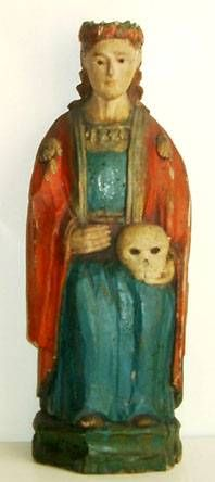 St. Rozalija. Old lithuanian sculpture, Lithuanian Art Museum.