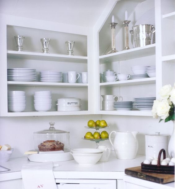 Pin By Reham Hany On Open Shelving: Corner Shelves With Slanted Roof