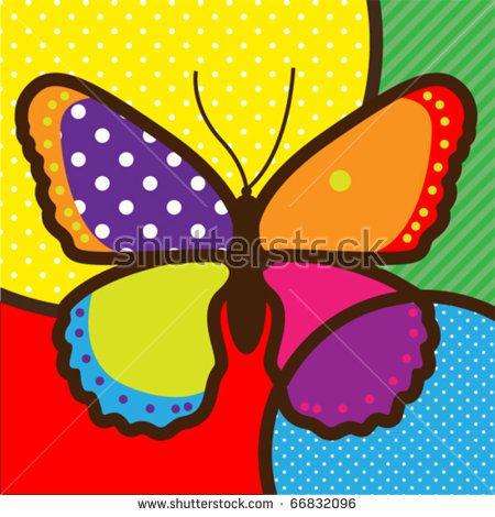 butterfly pop-art vector illustration for design