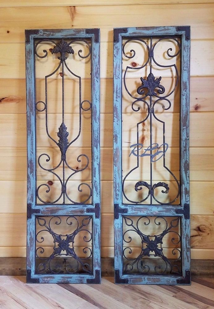 Details About Distressed Wood Scrolling Iron Vintage Country