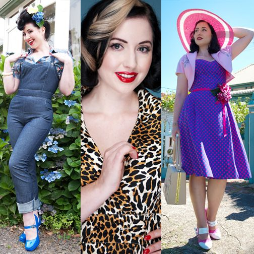 Dressing Within a Defined Aesthetic - read interviews with a woman who dresses in old style glamour, classic duds, and rocker styles!
