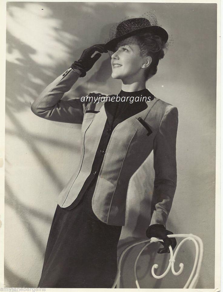 Vintage Press Photograph Fashion Designer Marcel Dhorme Smart Ladies Suit 1950's