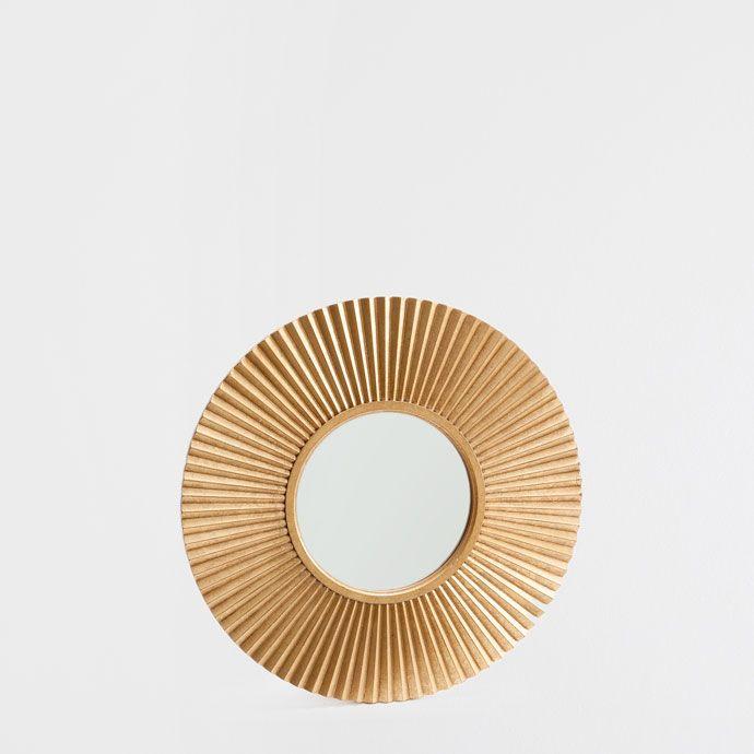 Schlafzimmer Einrichten Mit Zara Home: SPIEGEL MIT GOLDENER SONNE - Spiegel - Dekoration