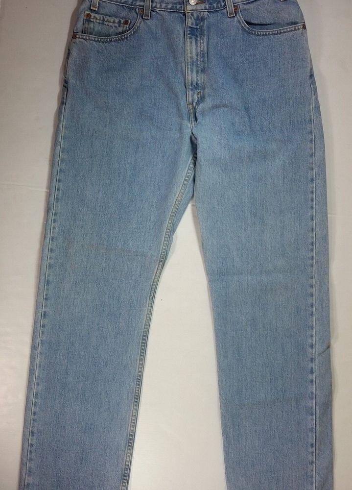 32373a75e8e Mens Levis 505 Blue Jeans Regular Fit Straight 36x34 Actual 34x34 #Levis  #ClassicStraightLeg