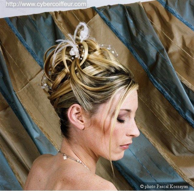 Coiffure de mariée réalisée par David Gabriel pour Coiffure de Paris