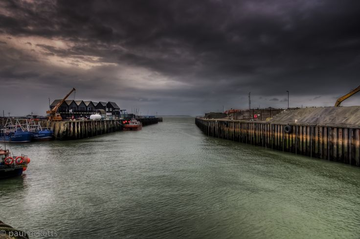 Whitstable Harbour As The Rain Set In