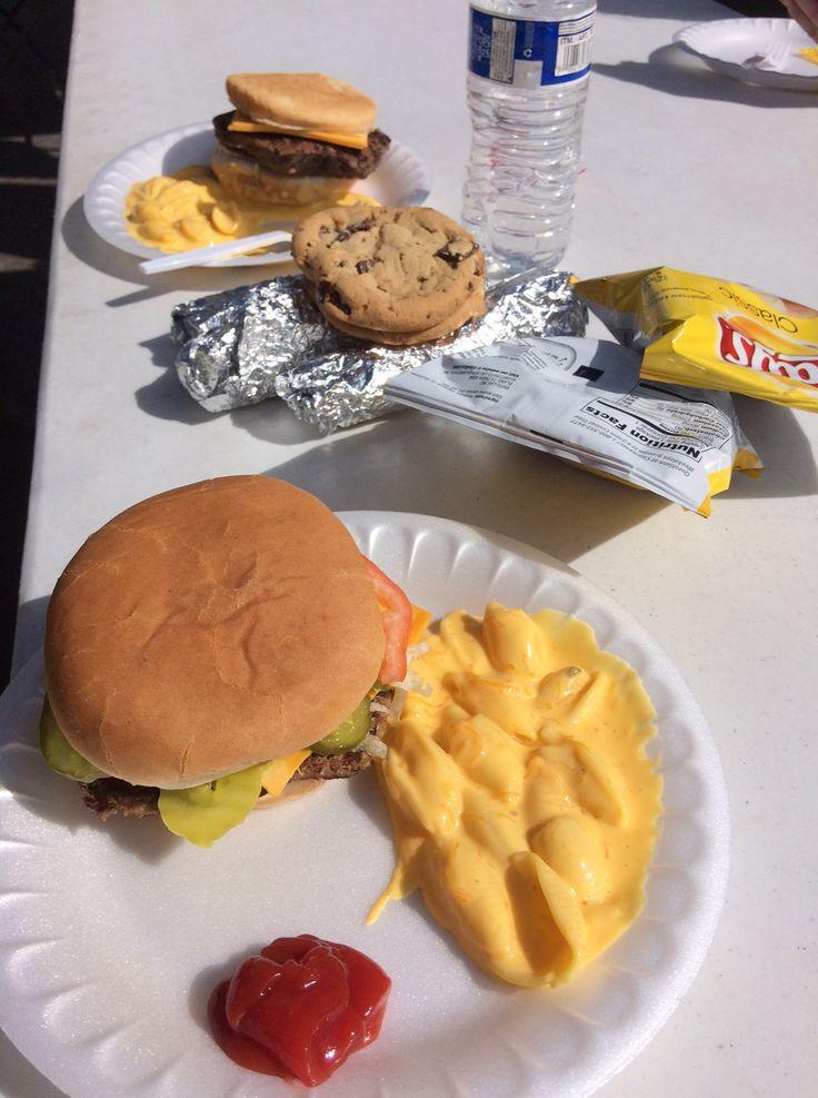 The food set up after the Platte River Half Marathon