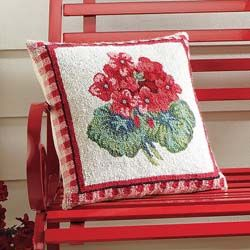 Home Accessories - Geranium Rug & Pillow