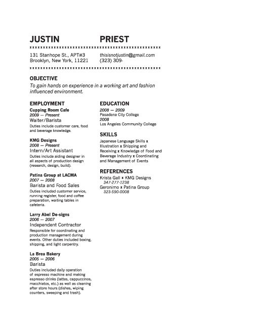 13 best Minimal résumé images on Pinterest Cover letters - product support specialist sample resume