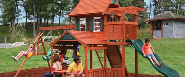 Best Wooden Swing Sets 2014 - Top Outdoor Swing Set Kits | A Listly List