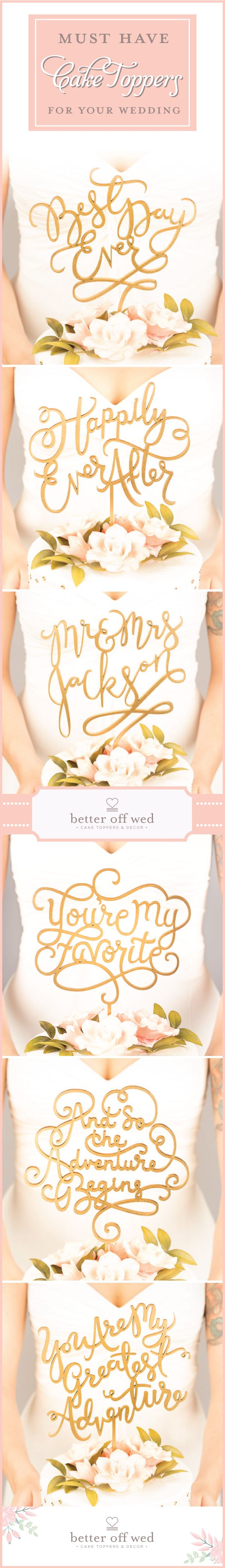 If you thought you didn't want a cake topper these will change your mind! www.betteroffwed.co