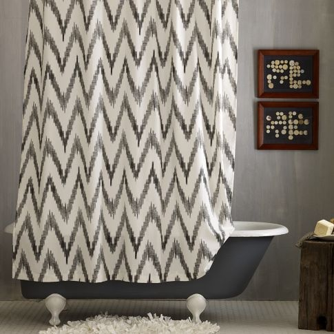 Chevron Shower Curtain | west elm