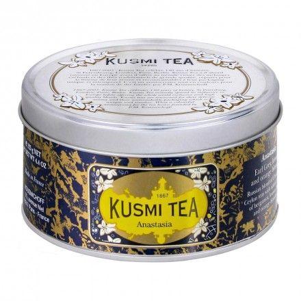 Anastasia (Un mélange de thés noirs de Chine et de Ceylan aromatisés bergamote, citron, et fleur d'oranger).