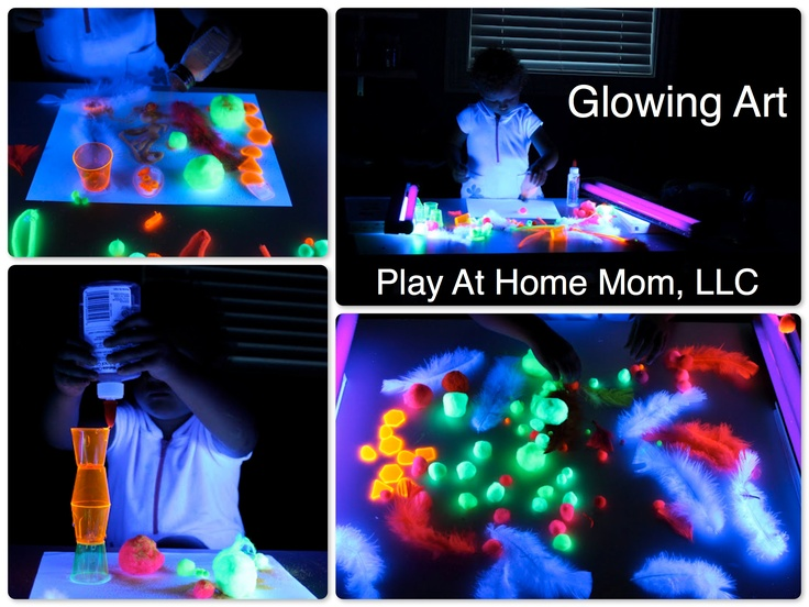 Glow in the dark art.  Kids Crafts.Dark Ideas, Crafts Ideas, Kids Activities, Kids Crafts, Dark Art, Art Kids, Glow, Dark Activities, Dark Crafts