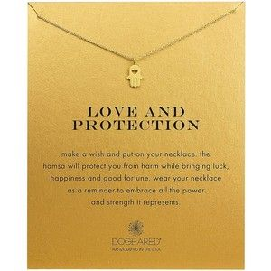 Dogeared Love and Protection 14K -Dipped Hamsa Necklace