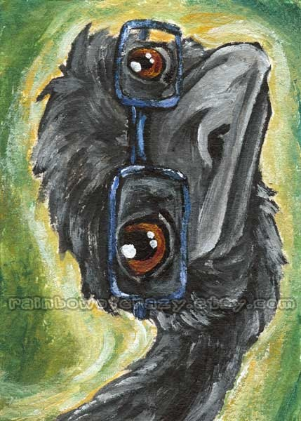 Emu ACEO Art Print Nerdy Geeky Cute Portrait Animal Illustration $5