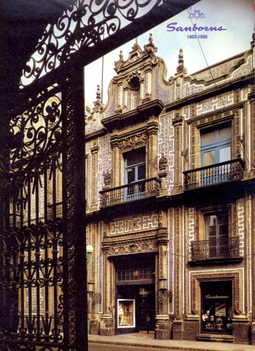 Sanborns Casa de Los Azulejos.This is a photo of Sanborn's in Mexico City. It is called the House of Tiles, was a palace, built for a Spanish Princess or Marquesa in the 1600's