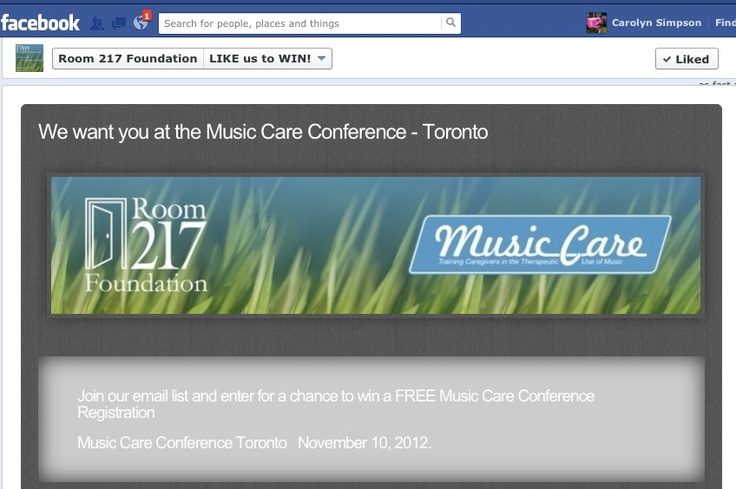 LIKE US TO WIN a free registration to the Music Care Conference